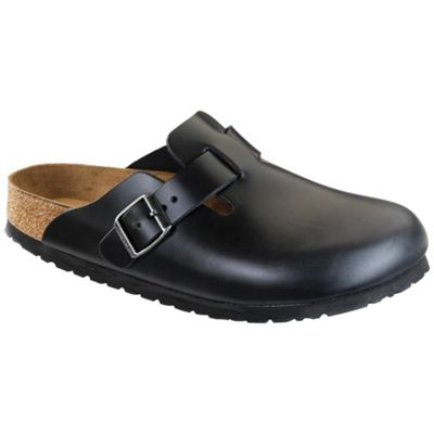 Birkenstock Boston Soft Footbed Clog - Black Amalfi Leather