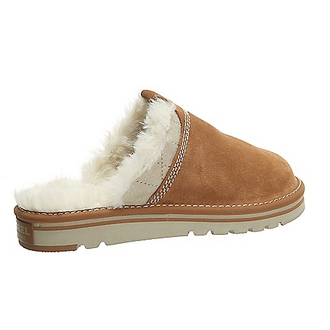 Sorel Women's Newbie Slipper Elk Sorel Women's Newbie Slipper - Elk - in stock now. FEATURES of the Sorel Women's Newbie Slipper Upper: Felt and suede leather Fleece lining Footbed: Molded EVA footbed with heel cup and arch support, fleece top cover Midsole: EVA Outsole: Outsole grade EVA with rubber traction pods