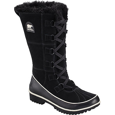 Sorel Women's Tivoli High II Boot Black Sorel Women's Tivoli High II Boot - Black - in stock now. FEATURES of the Sorel Women's Tivoli High II Boot Upper: Available in all over waterproof suede leather upper Waterproof breathable membrane construction and fleece lining Insulation: 100g insulation Footbed: Removable molded EVA footbed, micro fleece top cover Midsole: Rubber Outsole: Molded rubber outsole