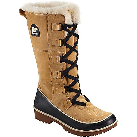 Sorel Women's Tivoli High II Boot Curry Sorel Women's Tivoli High II Boot - Curry - in stock now. FEATURES of the Sorel Women's Tivoli High II Boot Upper: Available in all over waterproof suede leather upper Waterproof breathable membrane construction and fleece lining Insulation: 100g insulation Footbed: Removable molded EVA footbed, micro fleece top cover Midsole: Rubber Outsole: Molded rubber outsole