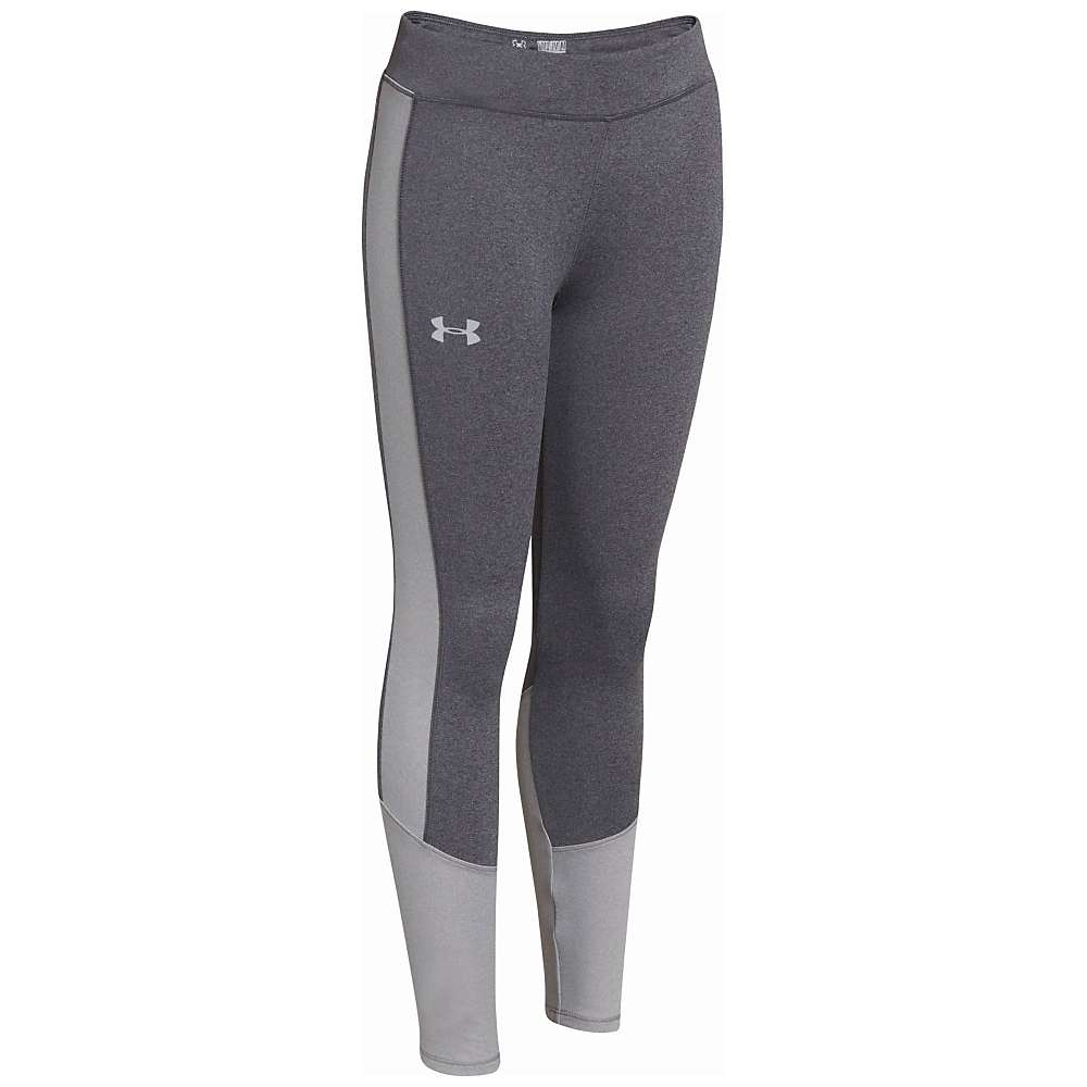 Under Armour Girls' ColdGear Infrared Storm Tight - XL - Carbon Heather / True Grey Heather