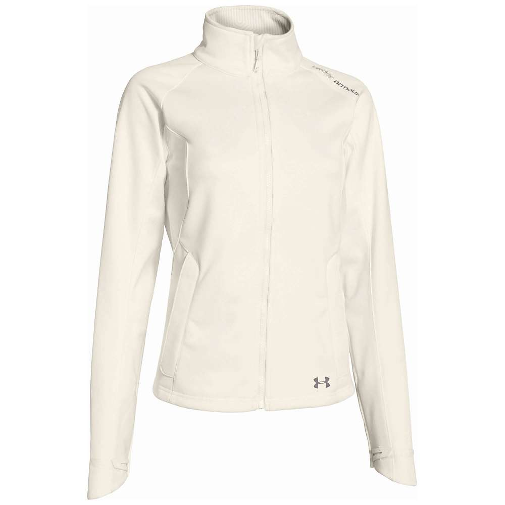 Under Armour Women's UA ColdGear Infrared Softershell Jacket - Medium - Ivory / Steeple Gray
