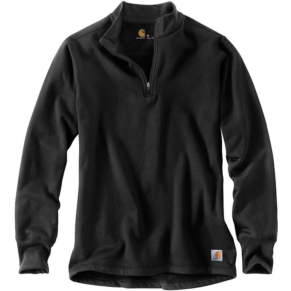 Carhartt Men's Base Force Super Cold Weather Quarter Zip Top - Large - Tall - Black thumbnail
