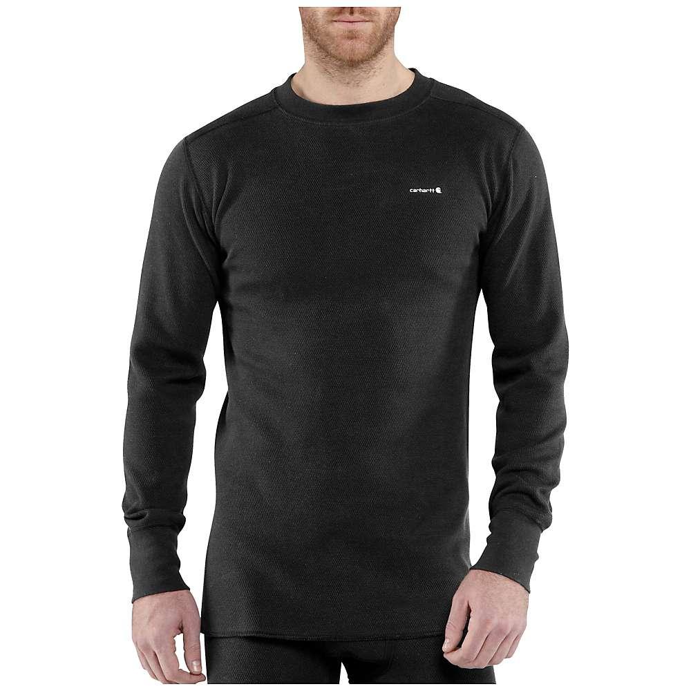 Carhartt Men's Base Force Cotton Super Cold Weather Crewneck Top - 3XL Regular - Black thumbnail
