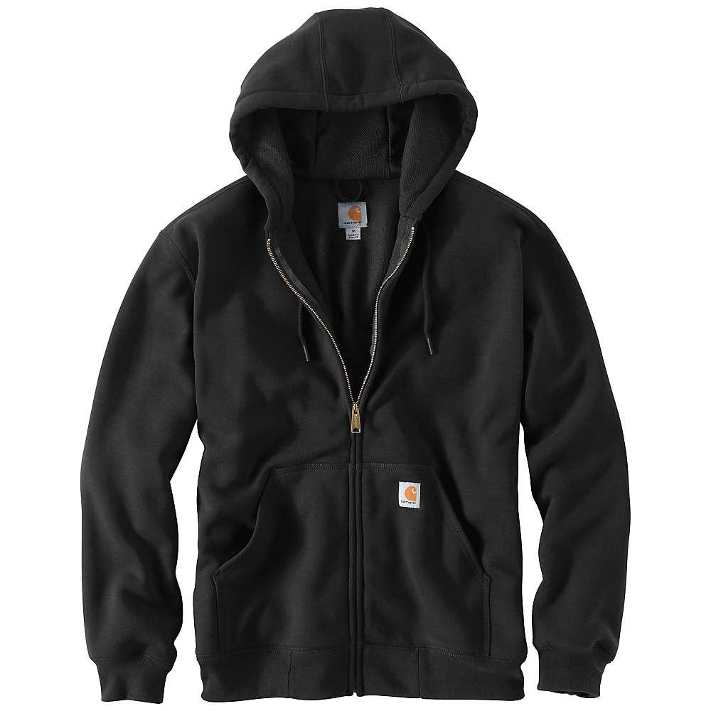 Carhartt Men's Rain Defender Rutland Thermal Lined Hooded Zip Front Sw - Small Regular - Black thumbnail