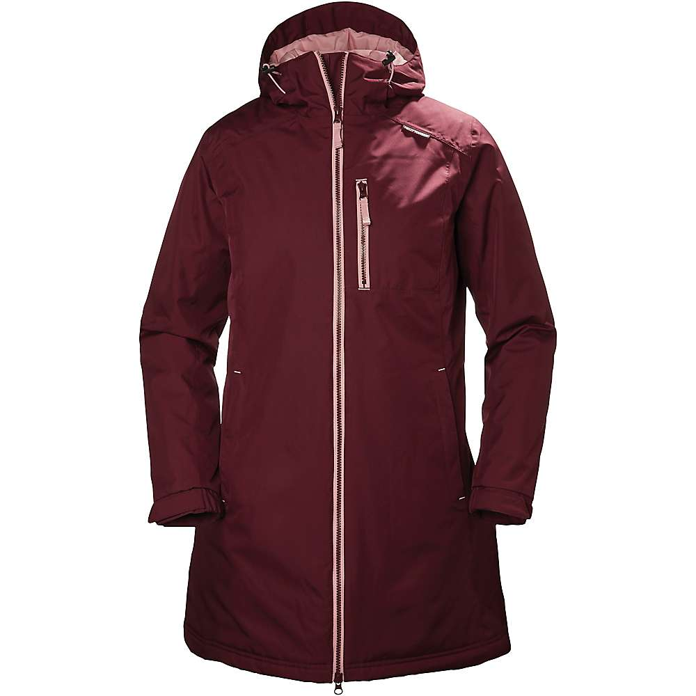 Helly Hansen Women's Long Belfast Winter Jacket - Small - Port