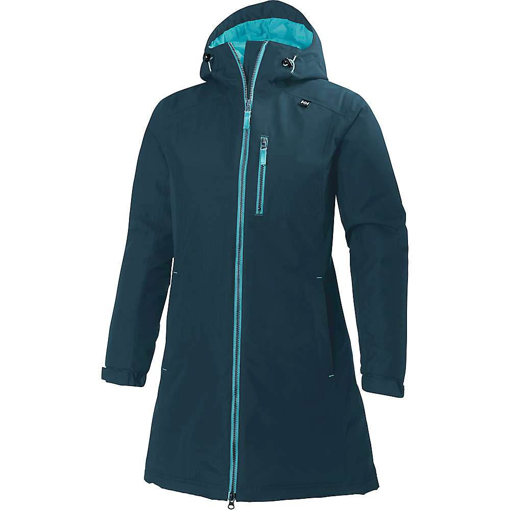 Helly Hansen Women's Long Belfast Winter Jacket - Small - Midnight Green