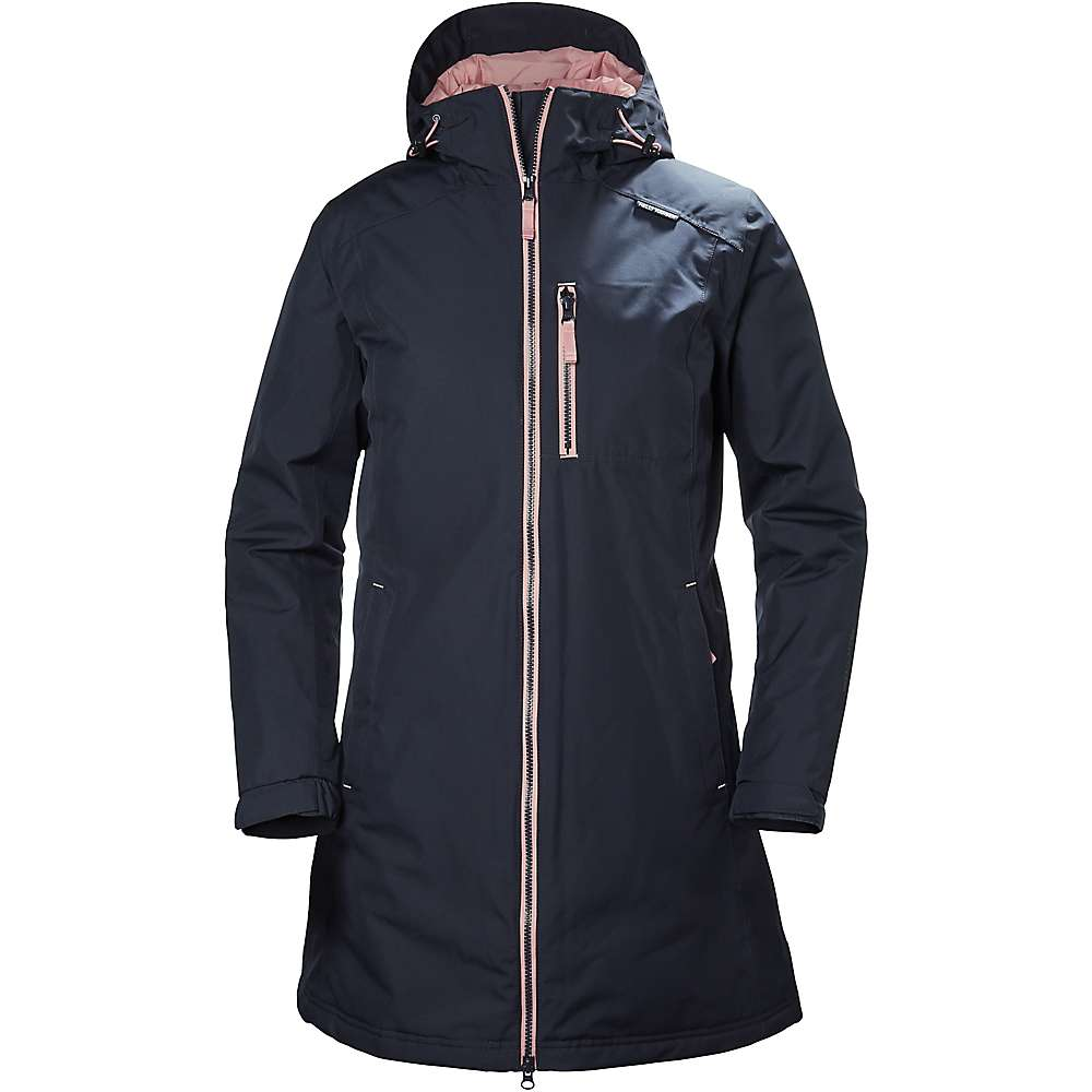 Helly Hansen Women's Long Belfast Winter Jacket - Small - Graphite Blue