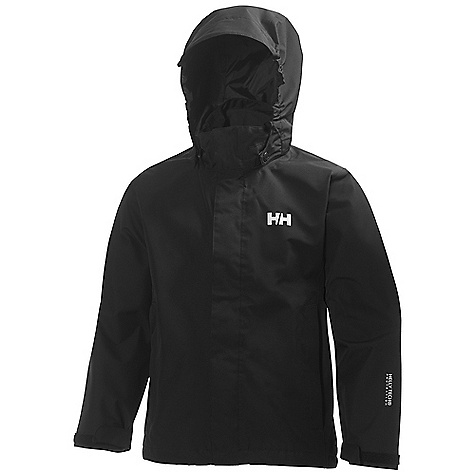 Helly Hansen Juniors' Seven J Jacket Black Helly Hansen Juniors' Seven J Jacket - Black - in stock now. FEATURES of the Helly Hansen Juniors' Seven J Jacket Helly Tech Protection Waterproof, windproof and breathable Fully seam sealed Durable Water Repellency Treatment (DWR) Lined for comfort Quick dry lining Front storm flap Detachable hood Adjustable bottom hem and cuffs Internal pocket