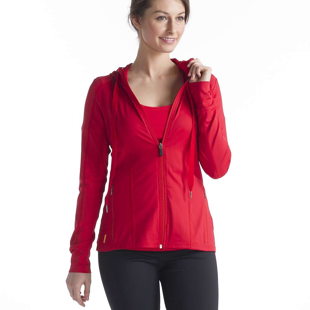 Lole Women's Truly Hooded Cardigan - Small - Pomegranite