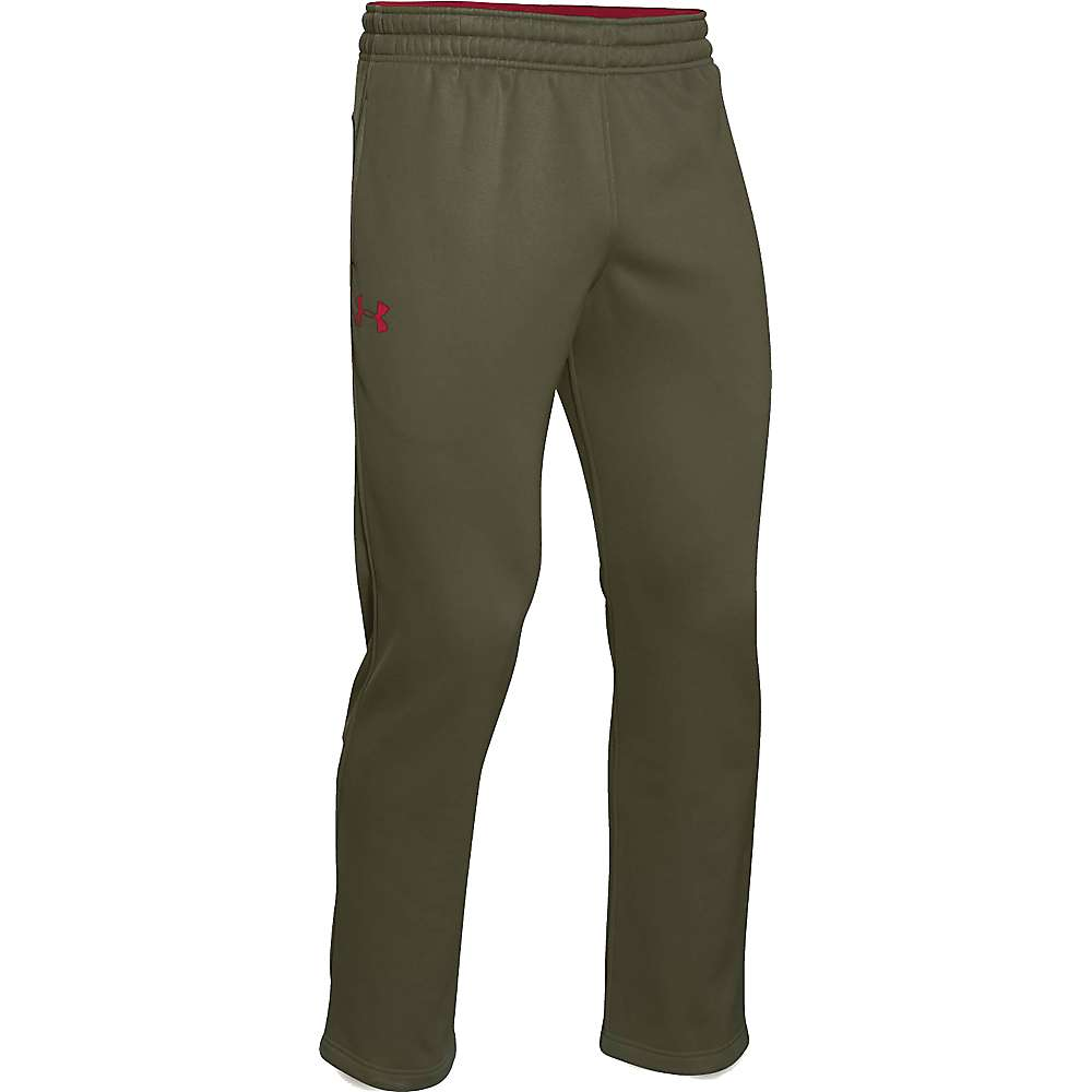 Under Armour Men's Storm Armour Fleece Pant - Large - Greenhead / Red