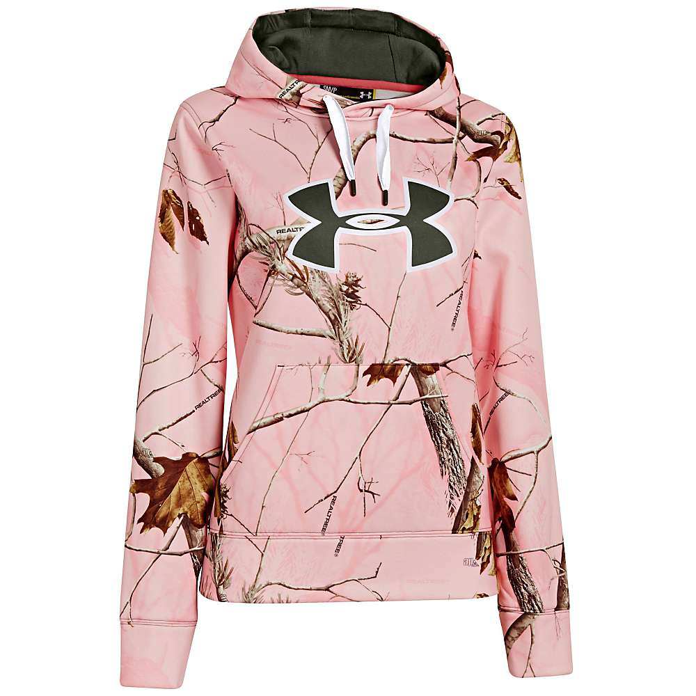 Under Armour Women's UA Camo Big Logo Hoody - Medium - Realtree AP Pink / White / Rifle Green
