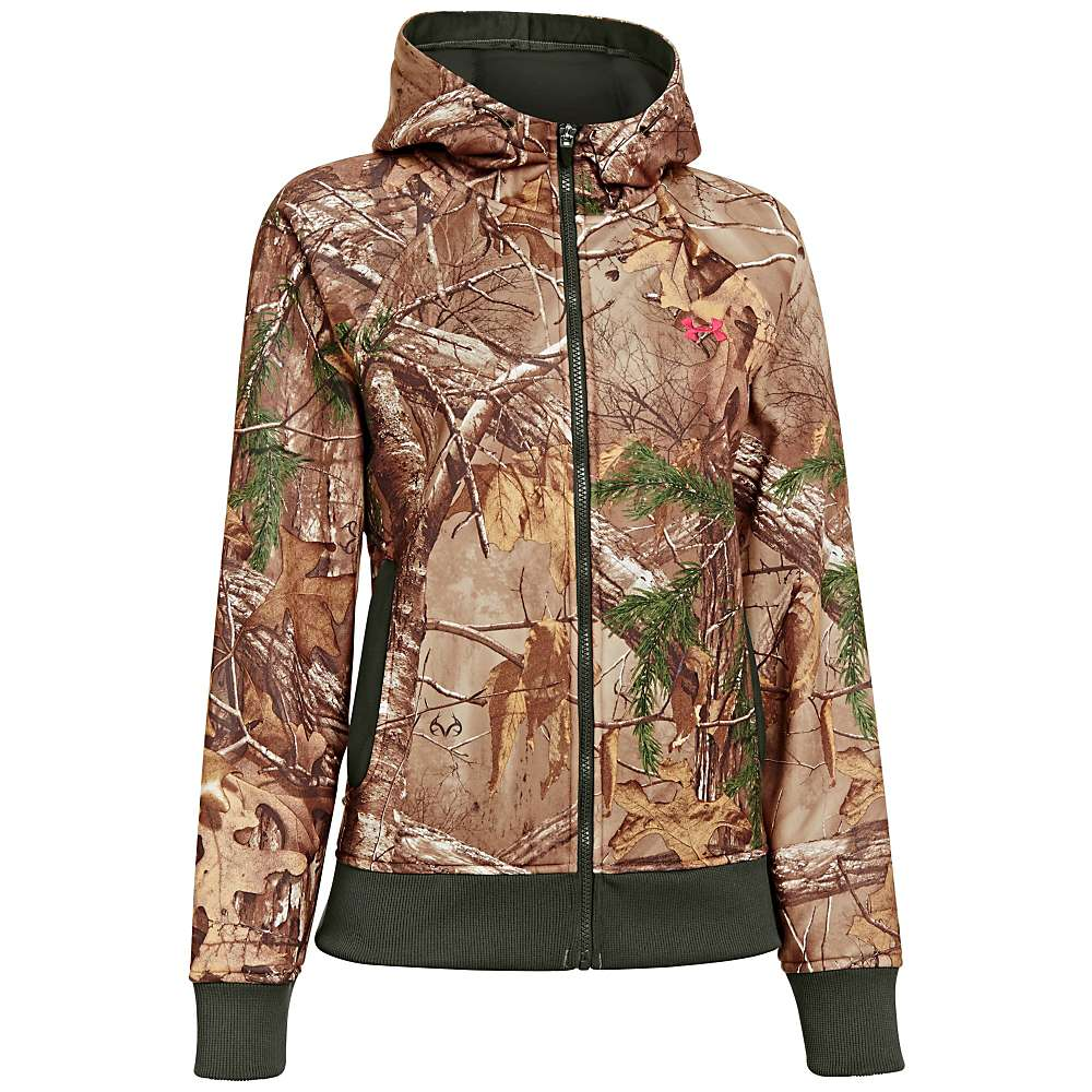 Under Armour Women's UA Camo Full Zip Hoody - Small - Realtree AP-Xtra / Perfection