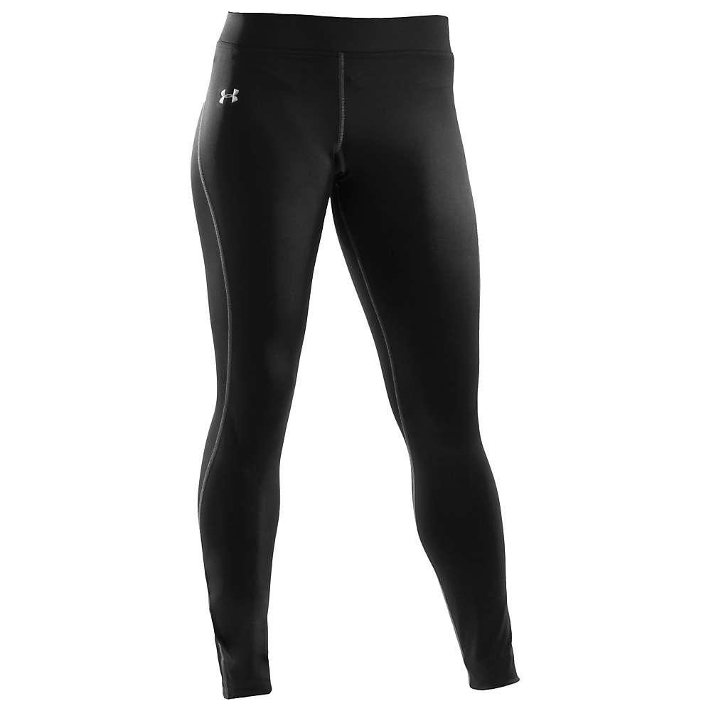 Under Armour Women's Authentic Coldgear Legging - XL - Black / Metallic Silver