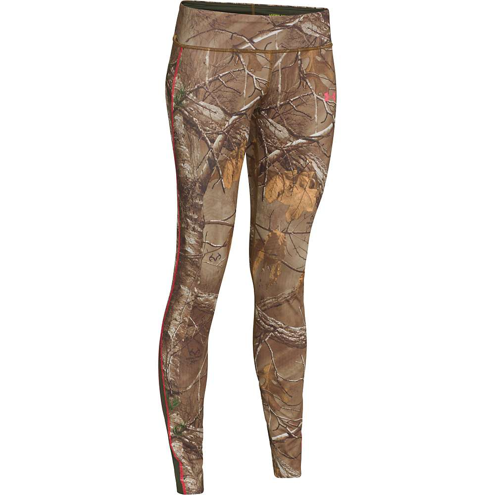 Under Armour Women's UA Coldgear Infrared Scent Control Evo Legging - Large - Realtree AP-Xtra / Perfection