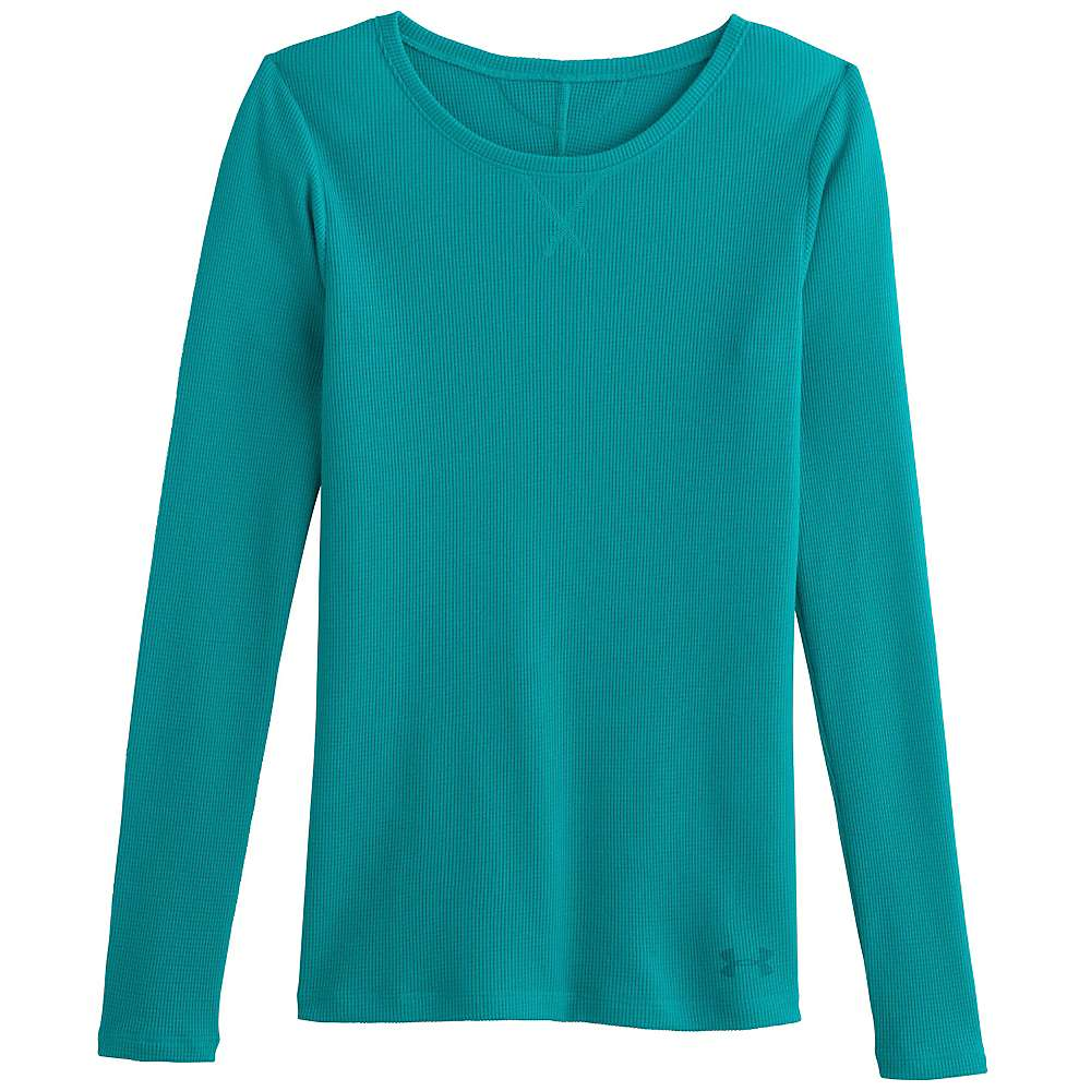Under Armour Women's Cozy Waffle Long Sleeve - Medium - Aqueduct