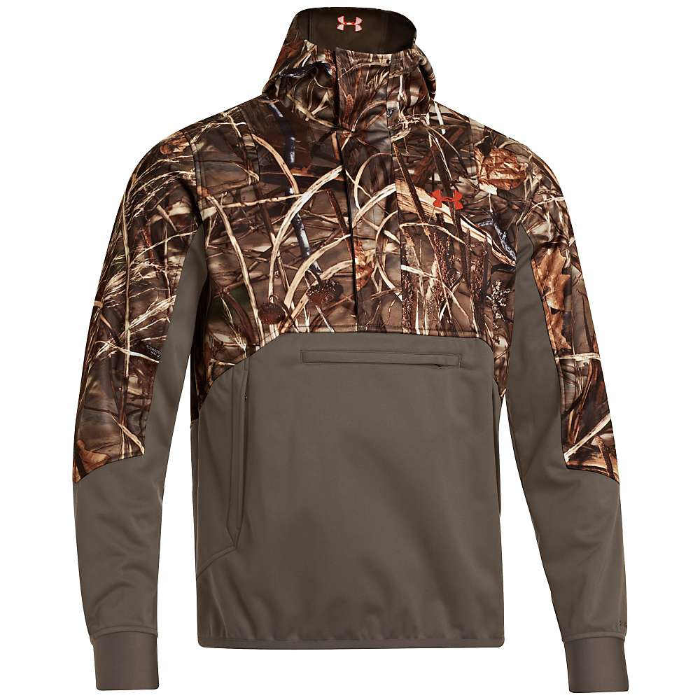 Under Armour Men's Coldgear Infrared Skysweeper Wind Hoody - Large - Realtree Max 5 / Dynamite