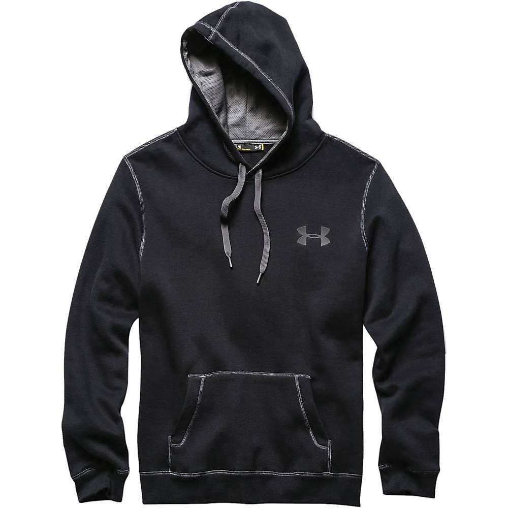 Under Armour Men's UA Rival Cotton Hoodie - XXL Tall - Black / Graphite / Graphite