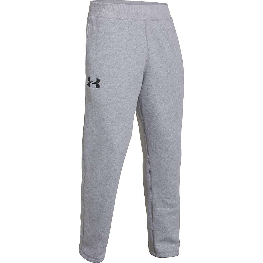 Under Armour Men's UA Rival Cotton Pant - Large - True Gray Heather / Black