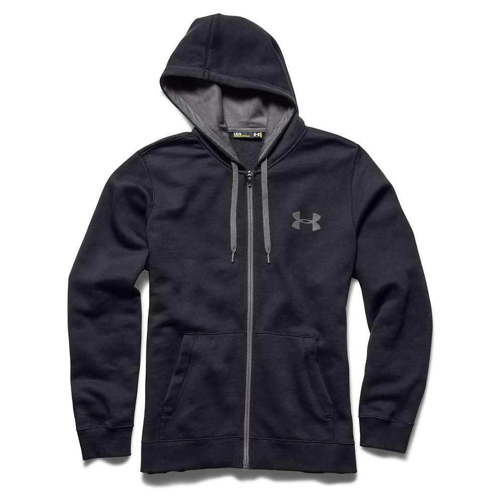 Under Armour Men's UA Rival Cotton Full Zip Hoodie - Medium - Black / Graphite / Graphite