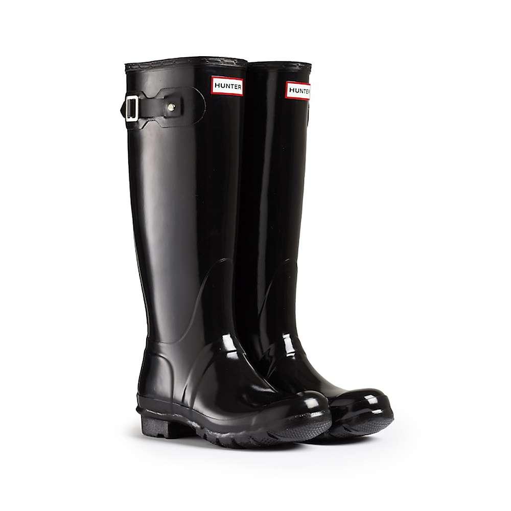 Hunter Women's Original Tall Gloss Boot - 6 - Black