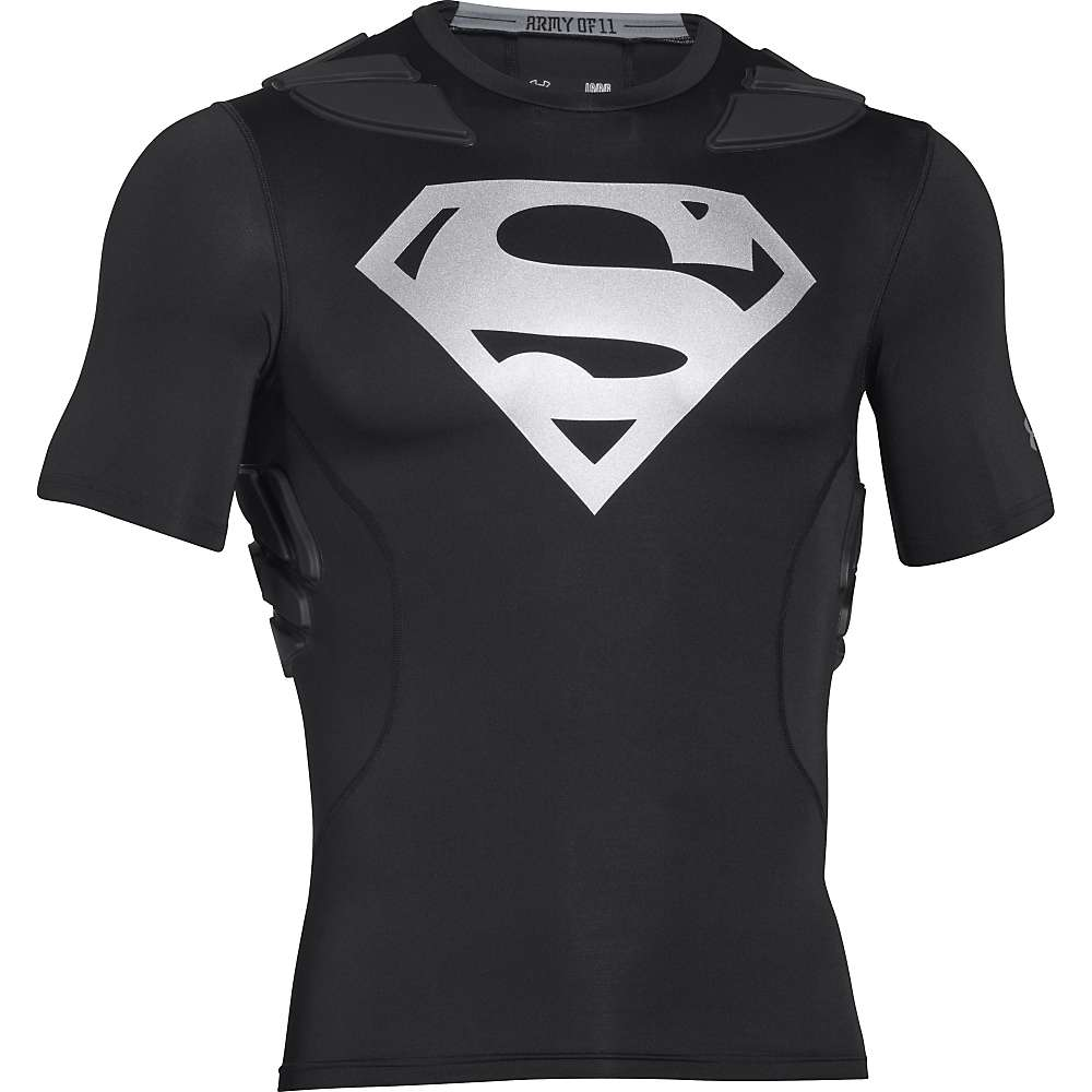 Under Armour Men's Alter Ego Gameday Armour 5-Pad Top - Small - Black / Black / Silver