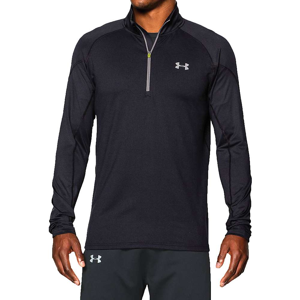Under Armour Men's UA ColdGear Infrared Run 1/2 Zip Top - Small - 002 Black / Black / Reflective