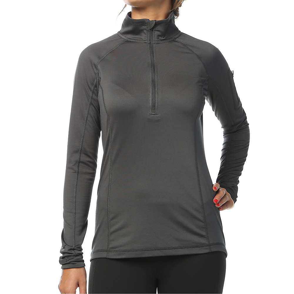 Moosejaw Women's Shelby 1/2 Zip Stretch Fleece - XL - Smoke