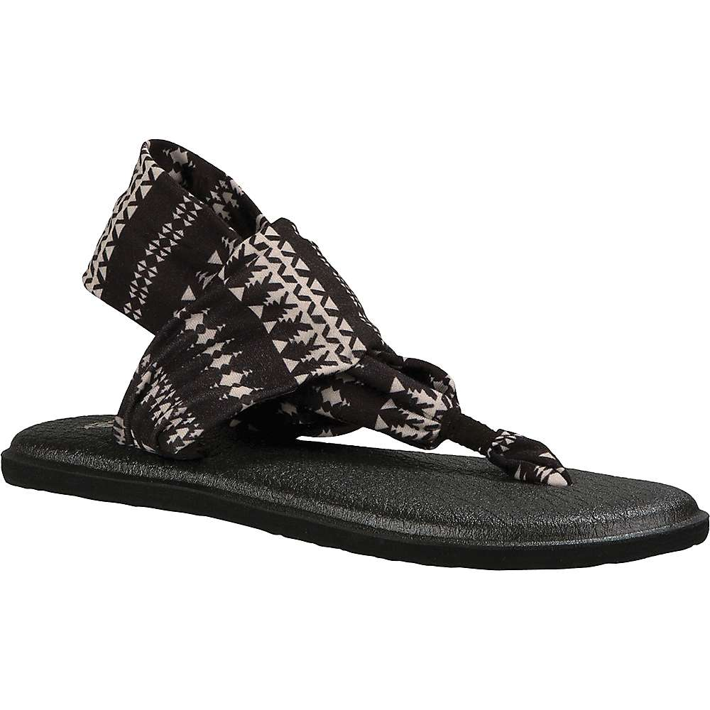 Sanuk Women's Yoga Sling 2 Prints Sandal - 7 - Black / Natural Koa Tribal