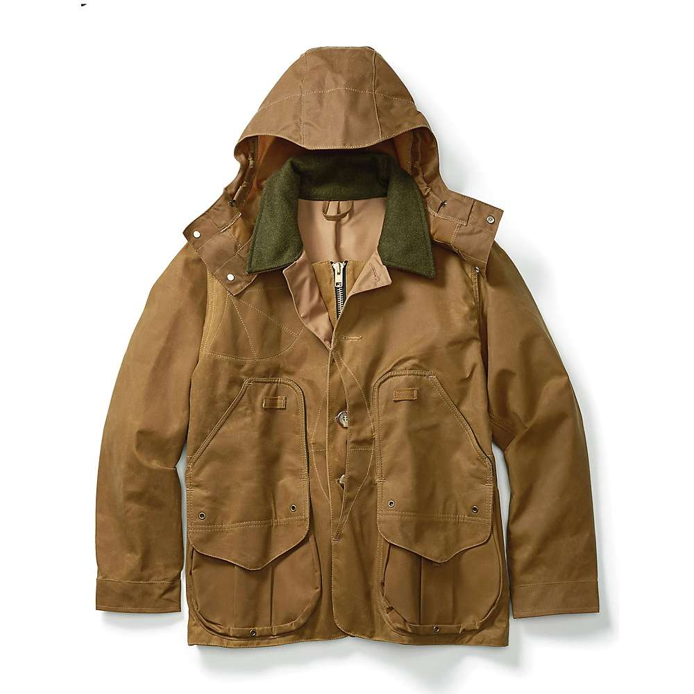 Filson Men's Tin Cloth Field Coat - Small - Dark Tan