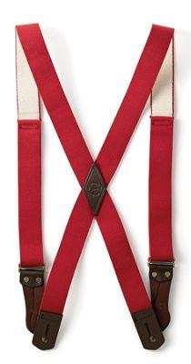 Filson Tab Suspenders - Long - Red