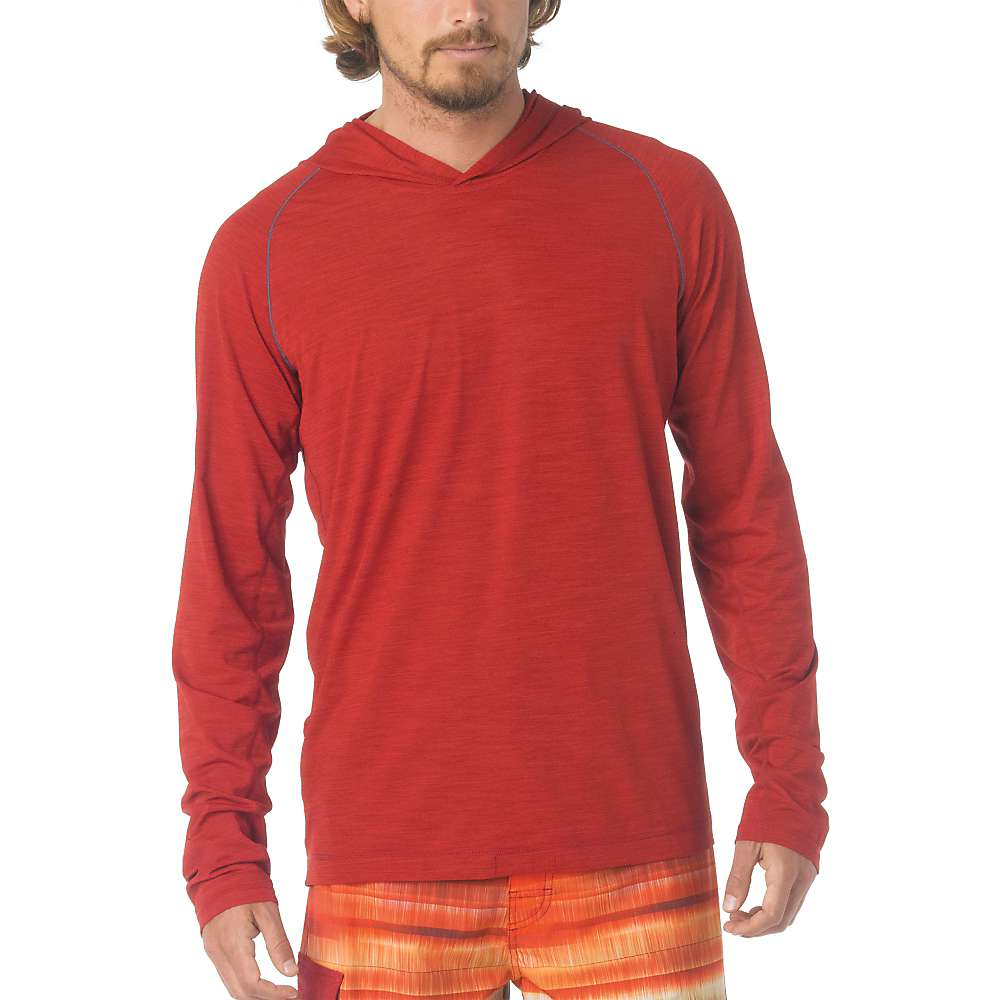 Prana Men's Calder LS Hoodie - XXL - Crimson