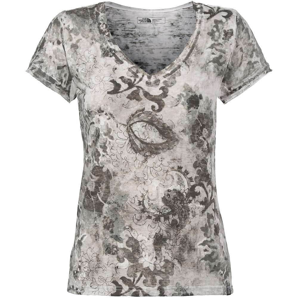 The North Face Women's Azalea V-Neck Tee - Small - TNF Black / TNF White Print