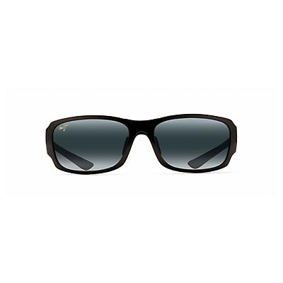 Maui Jim Bamboo Forest Polarized Sunglasses - Gloss Black Fade / Neutral Grey