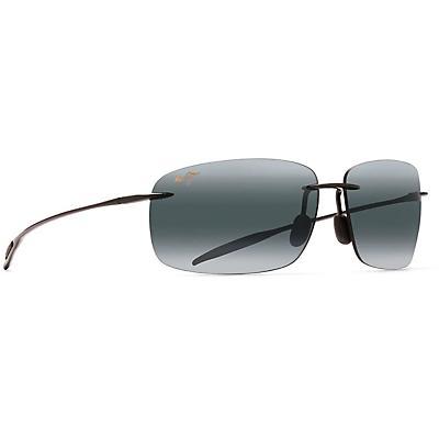 Maui Jim Breakwall Polarized Sunglasses - Gloss Black / Neutral Grey