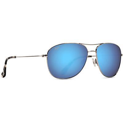 Maui Jim Cliff House Polarized Sunglasses - Silver / Blue Hawaii
