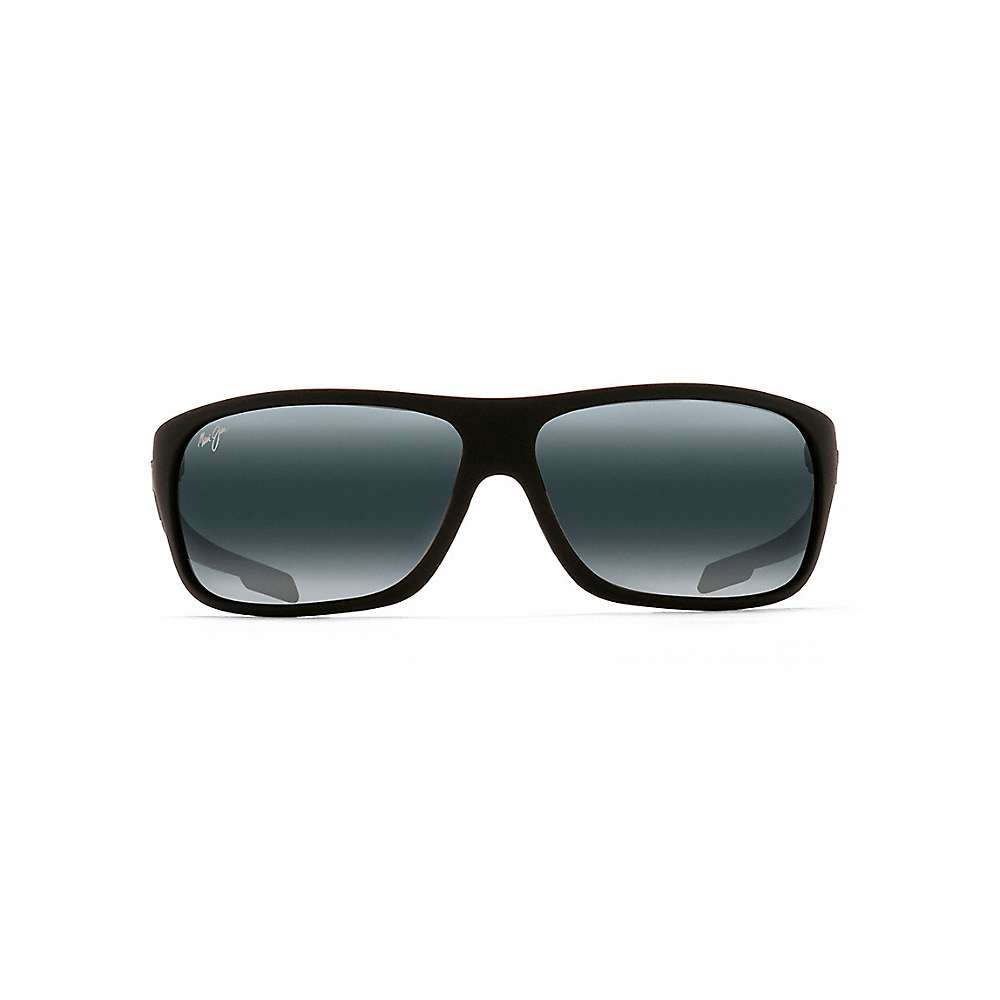 Maui Jim Island Time Polarized Sunglasses - One Size - Matte Black Rubber / Neutral Grey