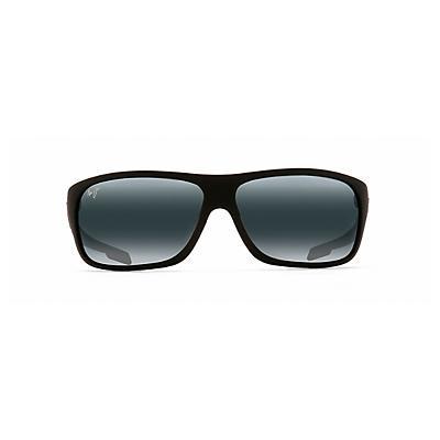 Maui Jim Island Time Polarized Sunglasses - Matte Black Rubber / Neutral Grey