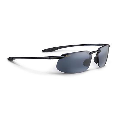 Maui Jim Kanaha Polarized Sunglasses - Gloss Black / Neutral Grey