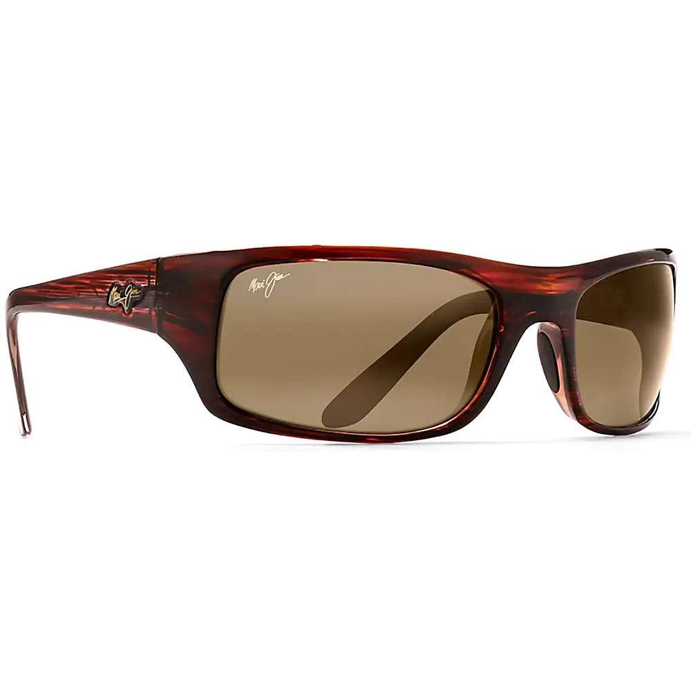 Maui Jim Peahi Polarized Sunglasses - One Size - Burgundy Tortoise / HCL Bronze