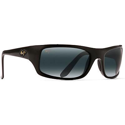 Maui Jim Peahi Polarized Sunglasses - Gloss Black / Neutral Grey