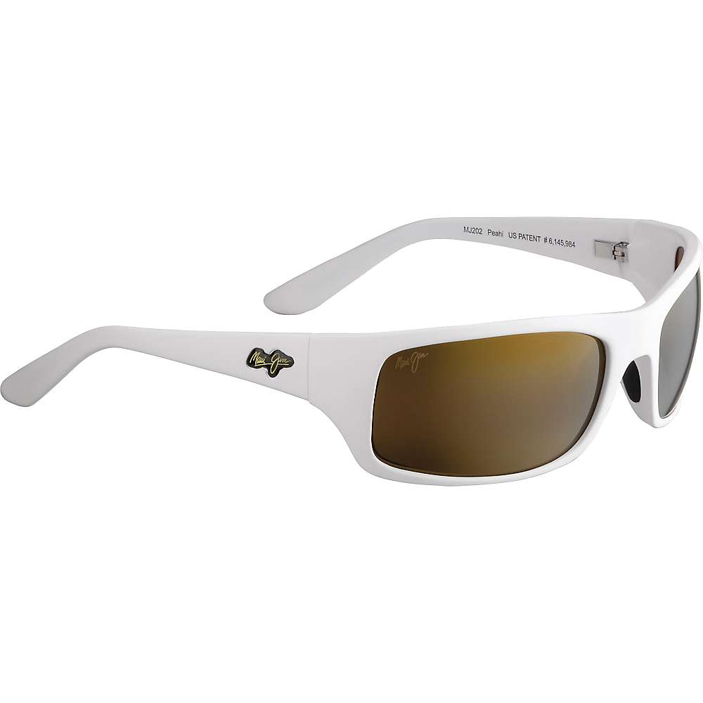 Maui Jim Peahi Polarized Sunglasses - One Size - Matte White / HCL Bronze