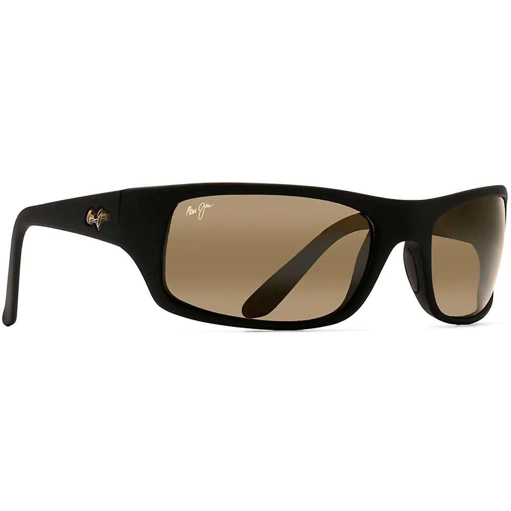 Maui Jim Peahi Polarized Sunglasses - One Size - Matte Black Rubber / HCL Bronze
