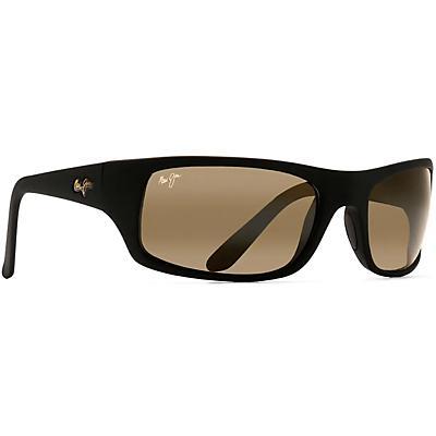 Maui Jim Peahi Polarized Sunglasses - Matte Black Rubber / HCL Bronze