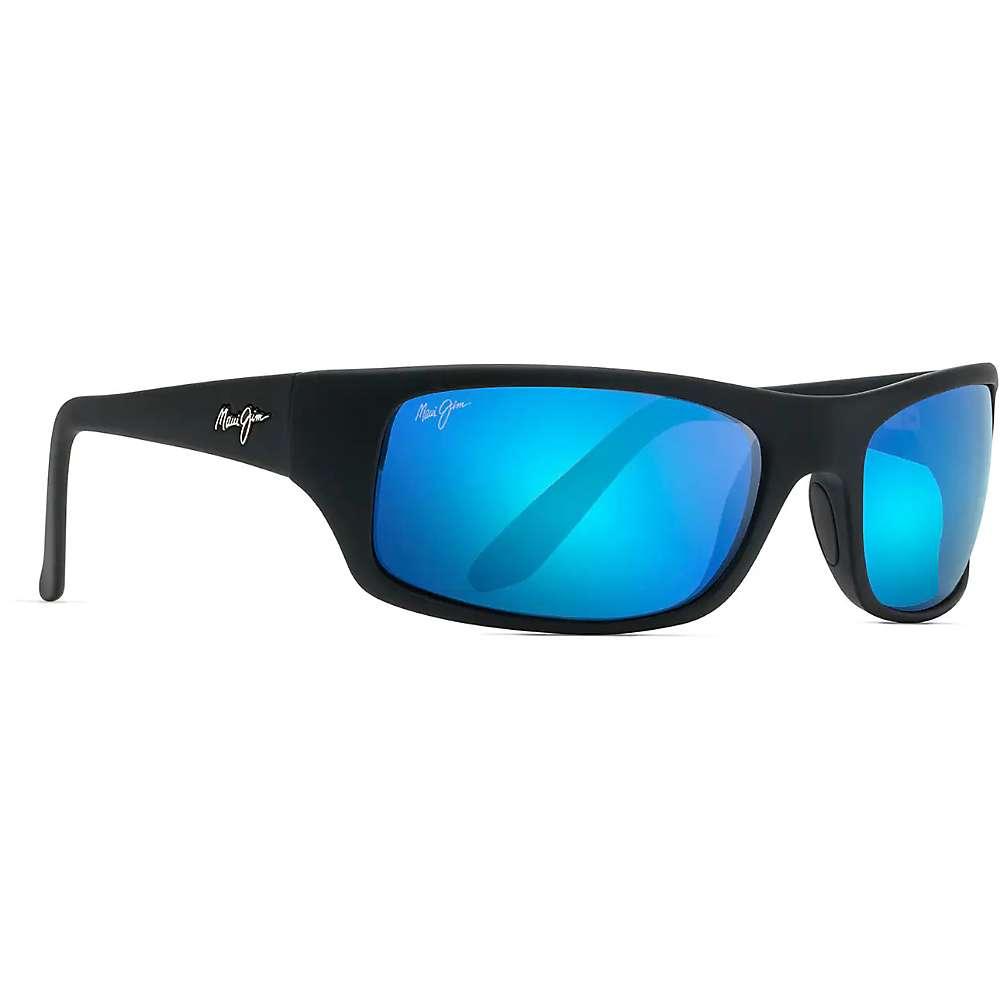 Maui Jim Peahi Polarized Sunglasses - One Size - Matte Black/Blue Hawaii