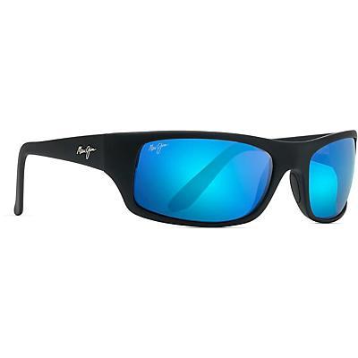 Maui Jim Peahi Polarized Sunglasses - Matte Black/Blue Hawaii