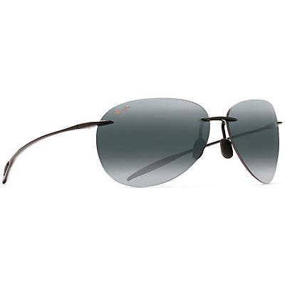 Maui Jim Sugar Beach Polarized Sunglasses - Gloss Black / Neutral Grey