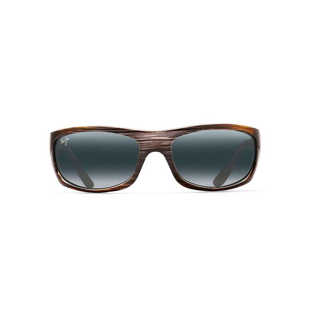 Maui Jim Surf Rider Polarized Sunglasses - One Size - Grey Black Stripe / Neutral Grey
