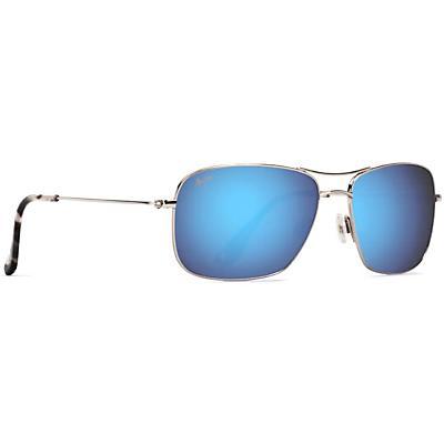 Maui Jim Wiki Wiki Polarized Sunglasses - Silver / Blue Hawaii