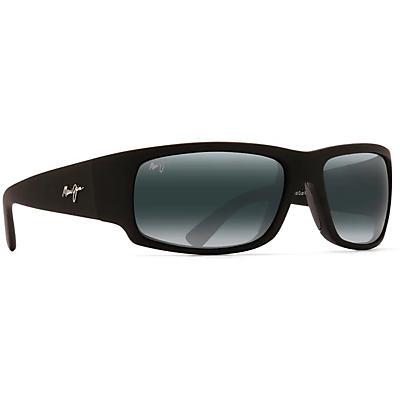 Maui Jim World Cup Polarized Sunglasses - Matte Black Rubber / Neutral Grey